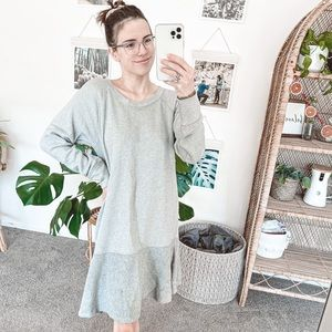 CAbi Flashdance Fleece Dress / Grey